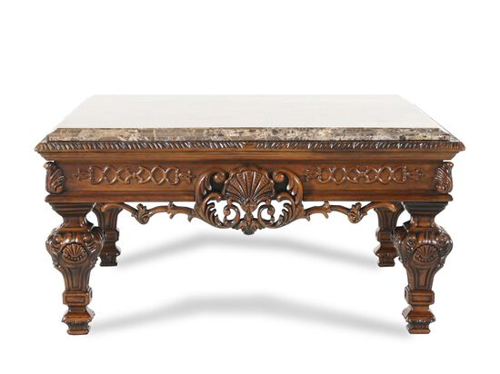 Stone-Top Formal Cocktail Tablein Brown