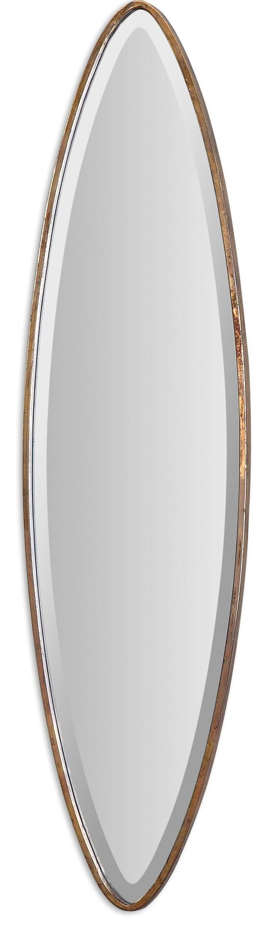 46'' Marquise Accent Mirror in Antiqued Gold