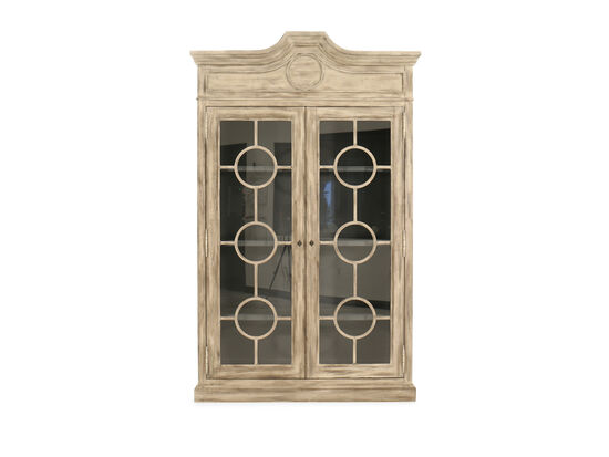 Traditional Baptiste Display Cabinet in Gray