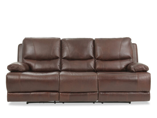"Leather 89"" Power Reclining Sofa in Brown"