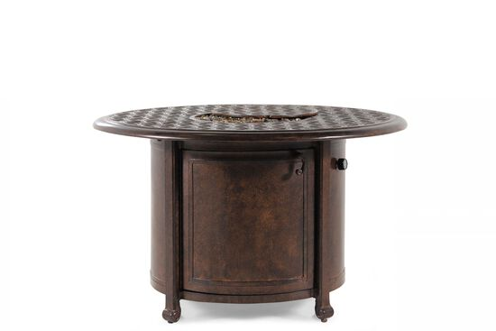 Handcrafted Aluminum Round Fire Pitin Brown