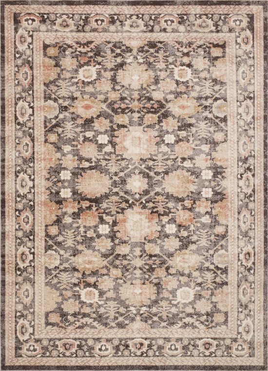 """Traditional 1'-6""""x1'-6"""" Square Rug in Mocha"""
