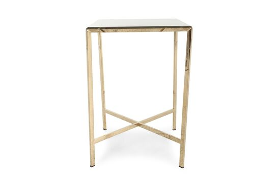 Square Contemporary End Table In Gold Bullion
