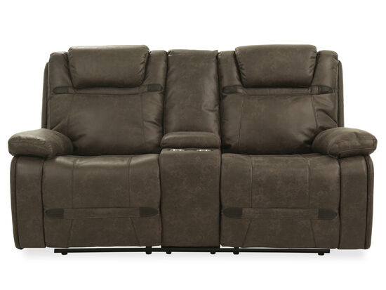 "Power Reclining Casual 76"" Loveseat in Brown"