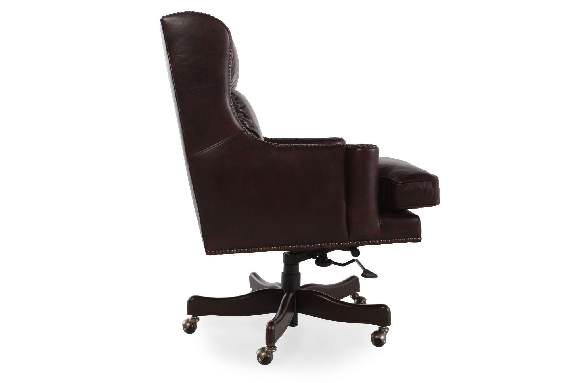 Leather Nailhead Accented Desk Chairu0026nbsp ...