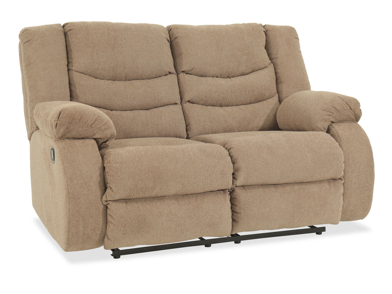 Reclining Contemporary 63 Loveseat In Beige Mathis Brothers Furniture
