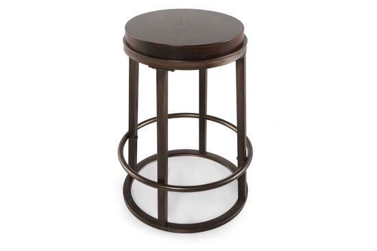 "Casual 30"" Round Bar Stool in Brown"