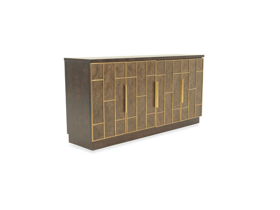 36'' Four-Door Transitional Credenza in Brown