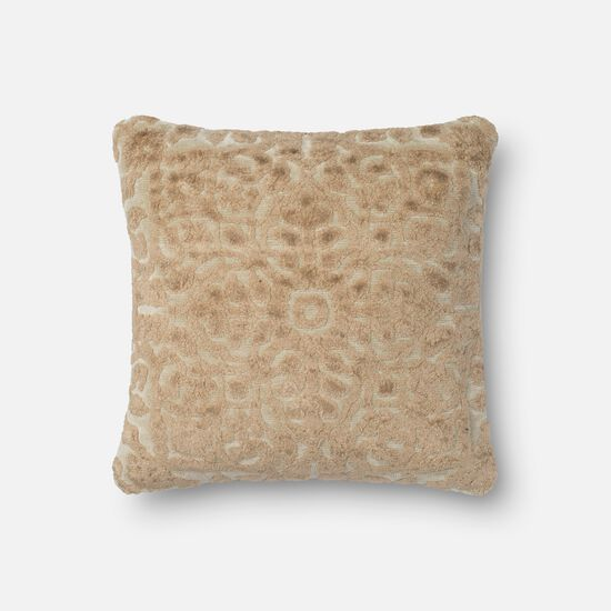 "Transitional 18""x18"" Pillow Cover Only in Cream"