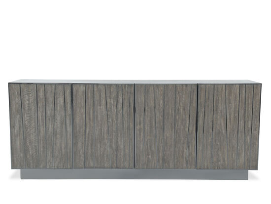 Four-Door Contemporary Entertainment Console in Brown