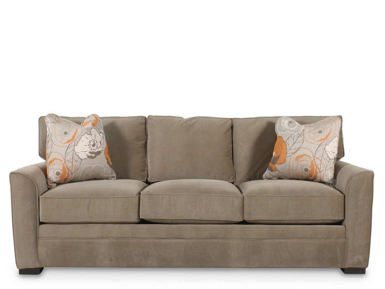 Traditional queen sleeper sofa in brown mathis brothers for Traditional sofas