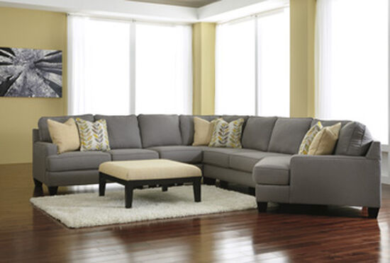 "Contemporary 36"" Oversized Accent Ottoman in Cream"