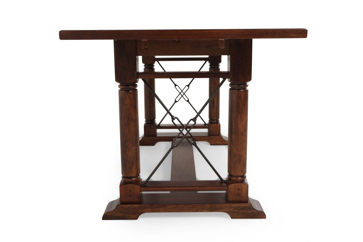 Broyhill Attic Heirlooms Rustic Oak Counter Height Table Mathis - Broyhill counter height dining set