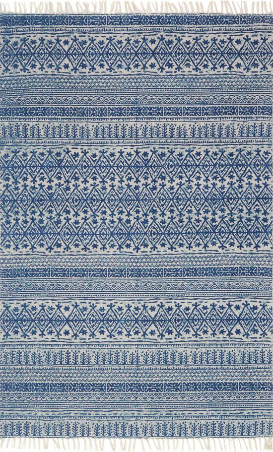"""Transitional 1'-6""""x1'-6"""" Square Rug in Blue"""