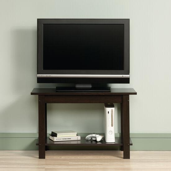 Casual Open Shelf TV Stand in Cinnamon Cherry