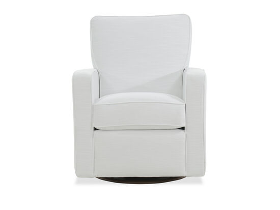 """Casual 32"""" Swivel Glider Chair in White"""