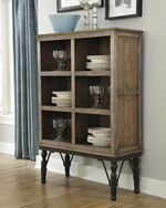 "Six Shelf 36"" Server in Rustic Brown"