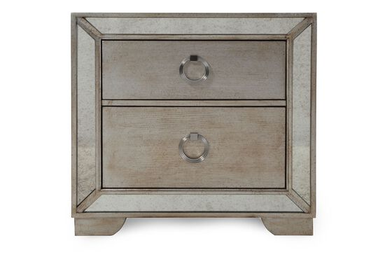 "29"" Contemporary Two-Drawer Nightstand in Gray"