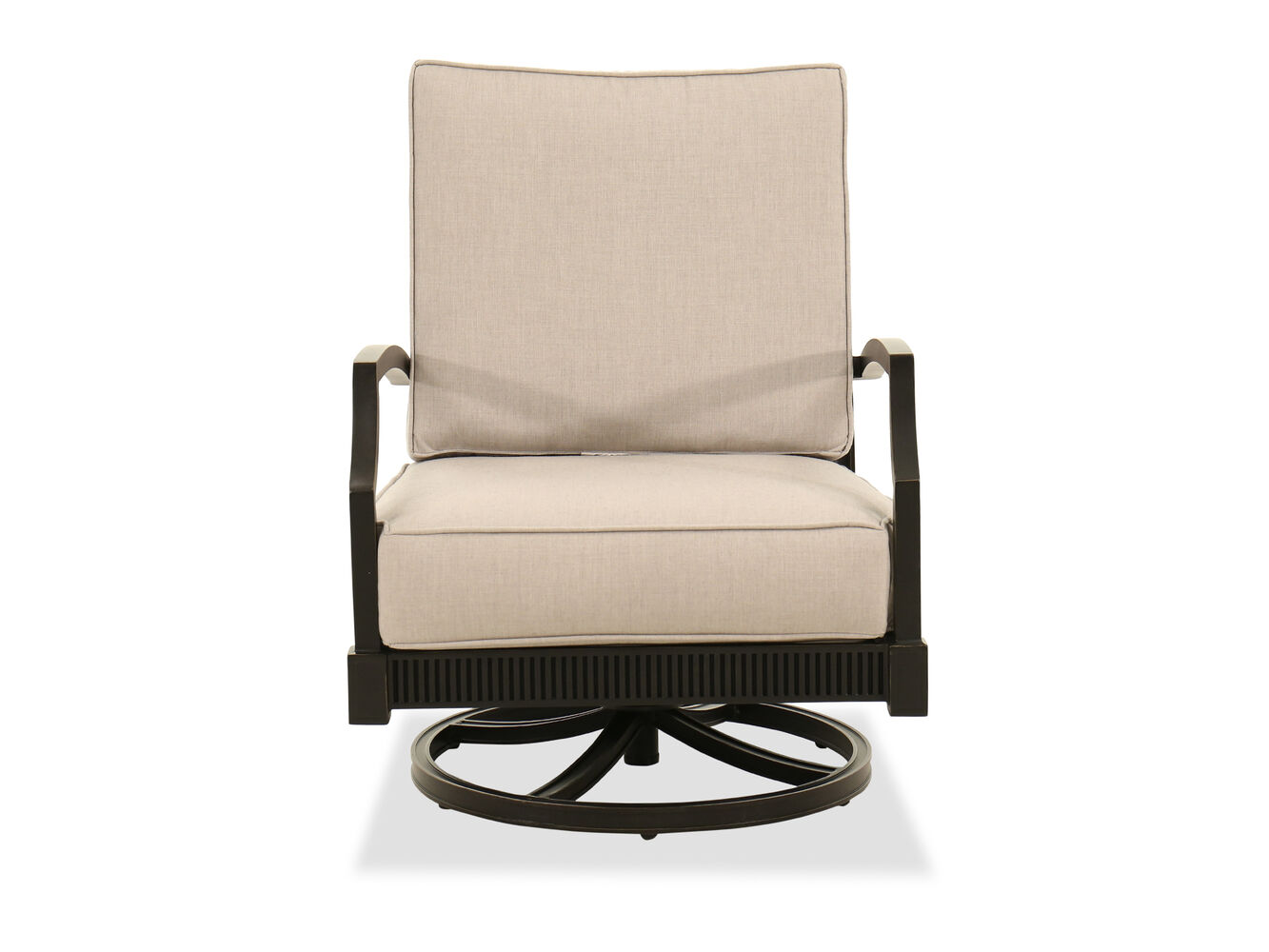 Rocking Aluminum Club Chair in Gray | Mathis Brothers Furniture