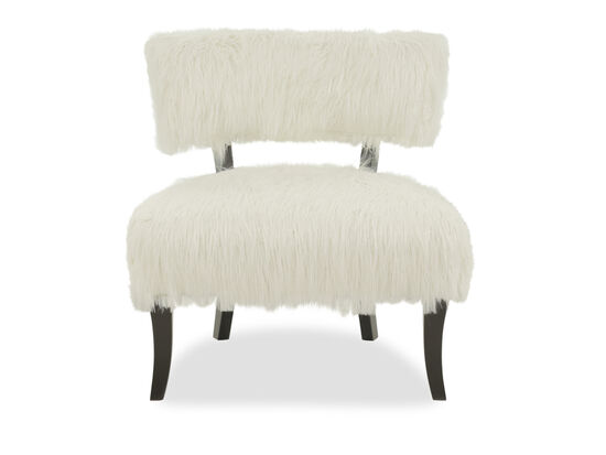 """Contemporary 30"""" Armless Accent Chair in White"""