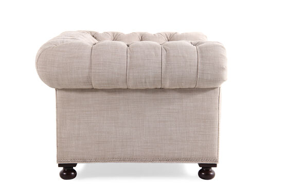 """Button-Tufted Traditional 55"""" Chair in Cream"""