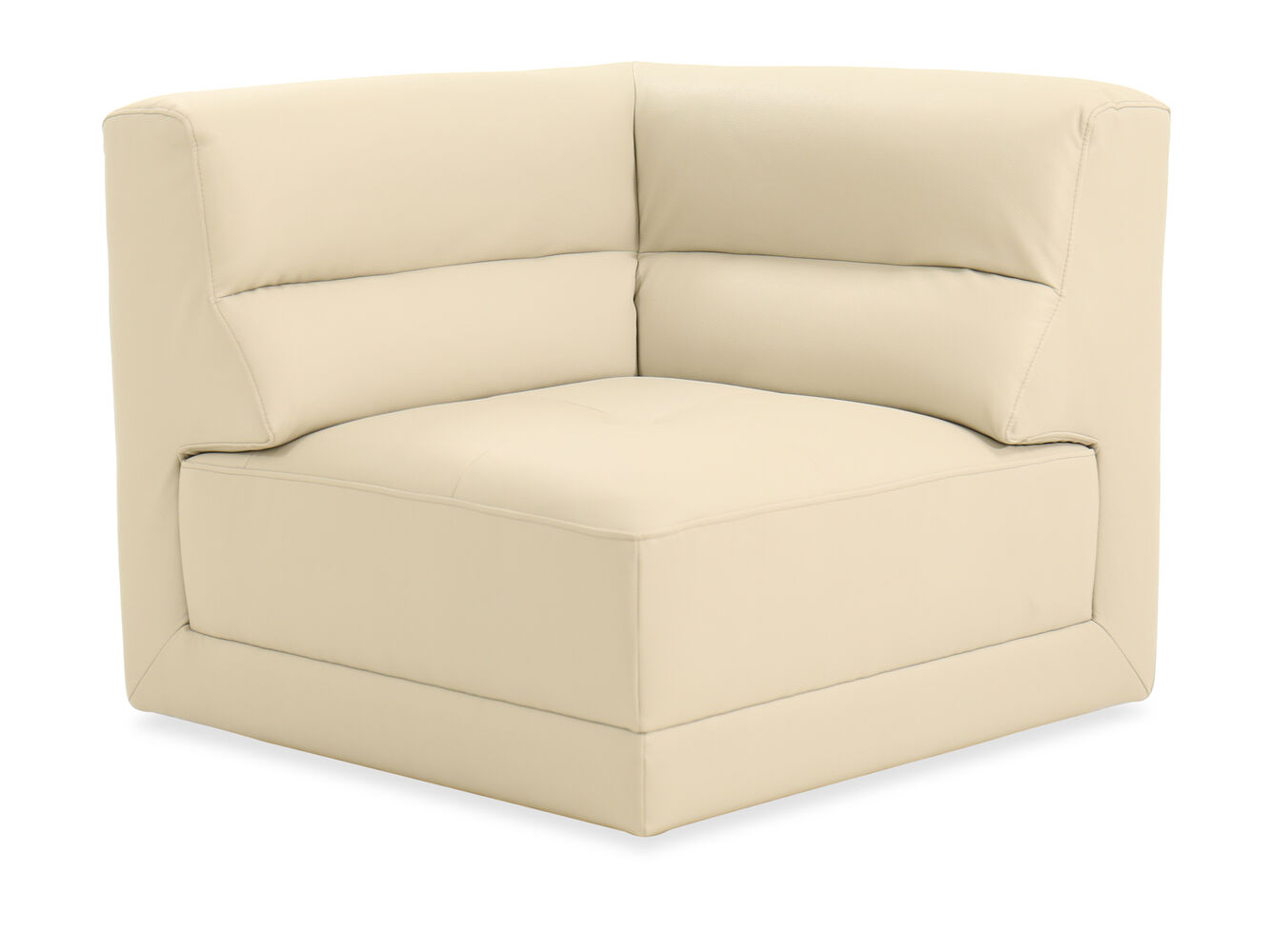 Images Casual Leather Corner Chair In Light Stone