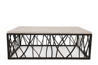 Rectangular Transitional Cocktail Table in Dark Bronze