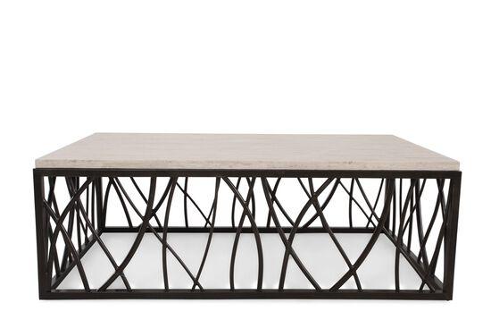 Rectangular Transitional Cocktail Tablein Dark Bronze
