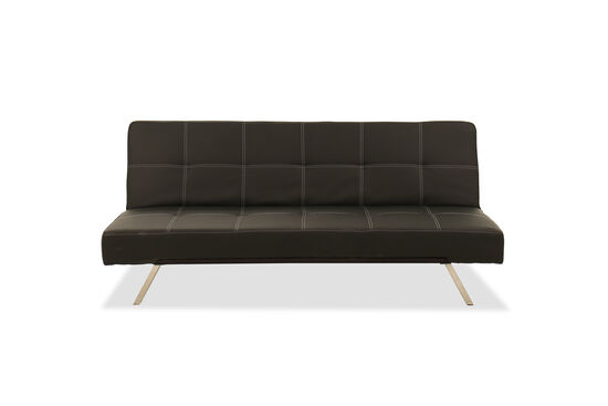 "Tufted 70.5"" Convertible Sofa in Black"