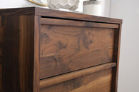 """47"""" Casual Four-Drawer Chest in Grand Walnut"""
