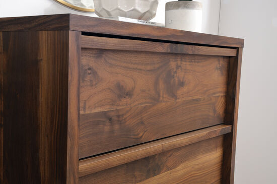 "47"" Casual Four-Drawer Chest in Grand Walnut"