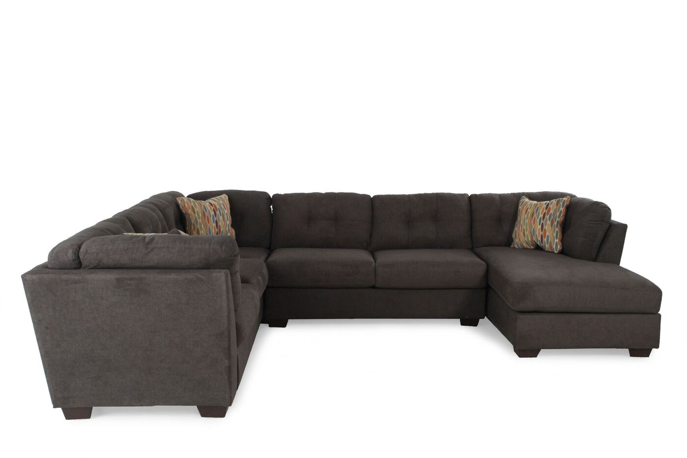 Three Piece Microfiber Sectional