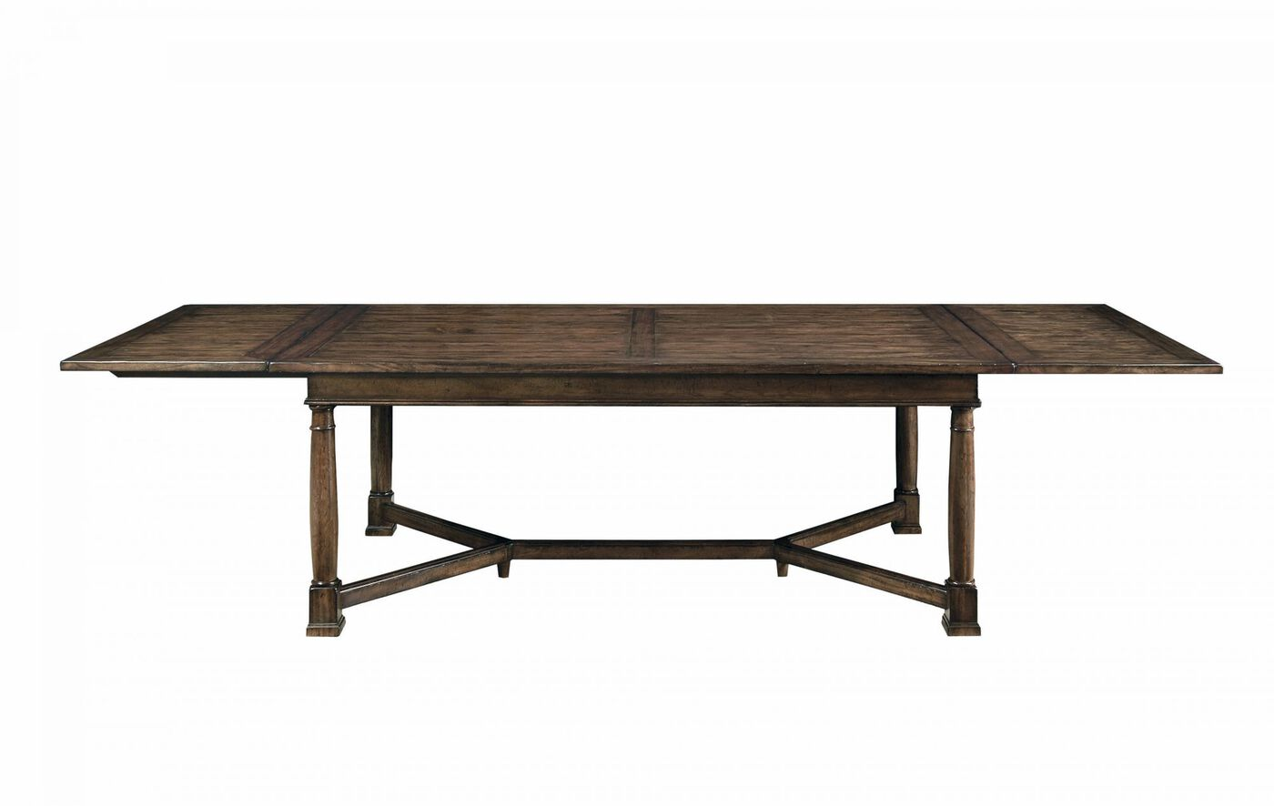 traditional 47 trestle dining table in tobacco mathis brothers furniture. Black Bedroom Furniture Sets. Home Design Ideas