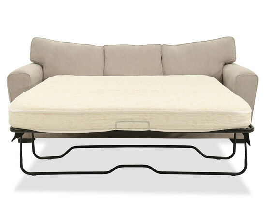 Straight Arm Casual Queen Sleeper Sofa in Brown