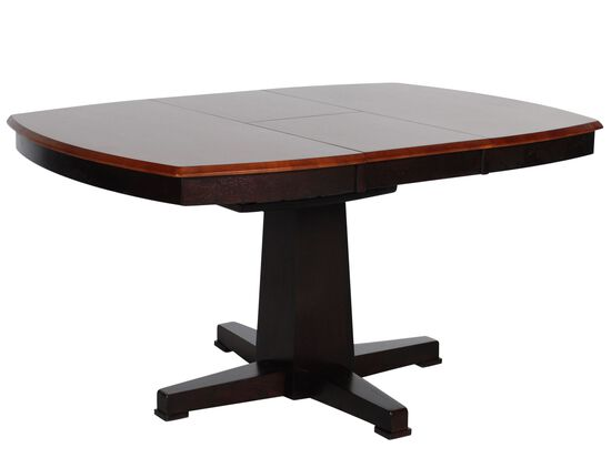 """Casual Butterfly Leaf 42"""" to 57"""" Pedestal Dining Table in Espresso"""