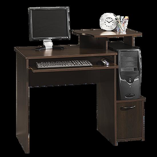 """40"""" Casual Open-Shelf Computer Desk in Cinnamon Cherry"""