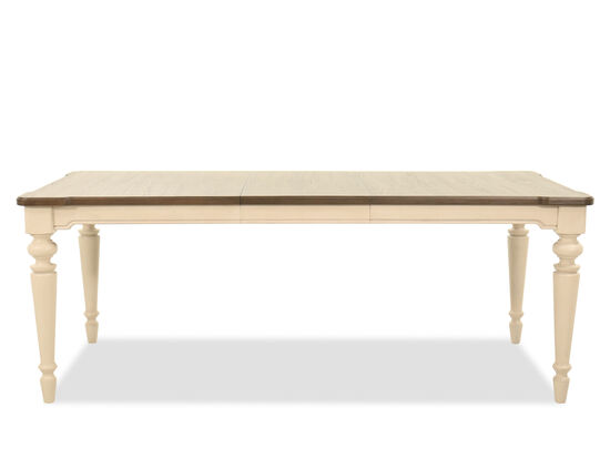 Rectangular 62'' to 80'' Dining Table in Vintage Linen