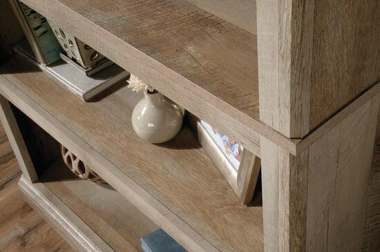 Contemporary Adjustable Shelf Open Bookcase in Lintel Oak