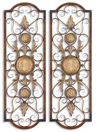 Uttermost Micayla Antique Metal Panels, Set/2