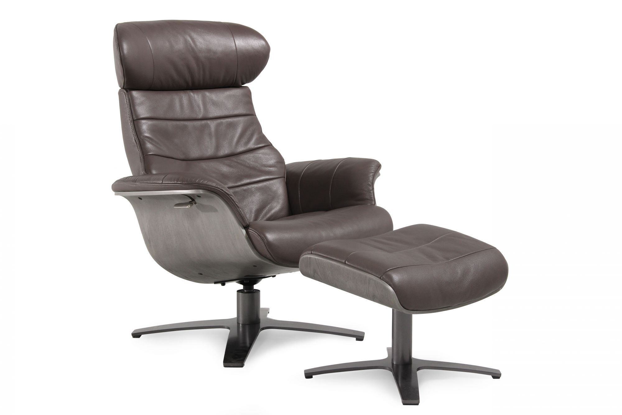 Boulevard Grey Leather Swivel Recliner and Ottoman  sc 1 st  Mathis Brothers & Boulevard Grey Leather Swivel Recliner and Ottoman   Mathis ... islam-shia.org
