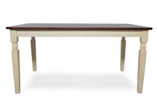 """Casual 60"""" Rectangular Dining Table in Buttermilk"""