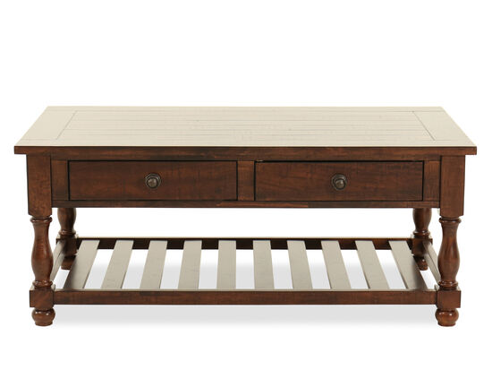 Two-Drawer Contemporary Cocktail Tablein Brown