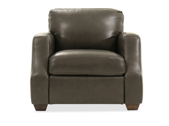 """Leather 38"""" Chair in Gray"""