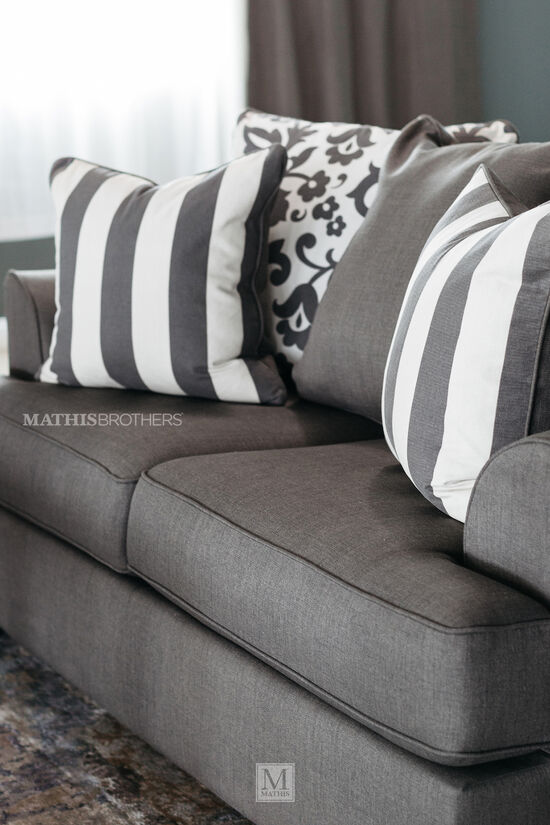 "Contemporary 69"" Loveseat in Charcoal"