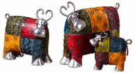 Uttermost Colorful Cows Metal Figurines, Set/3