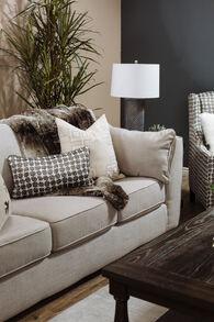 """Contemporary 93"""" Box Sofa in Beige"""