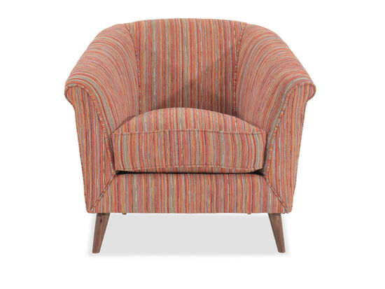 """Striped Mid-Century Modern 36"""" Accent Chair"""