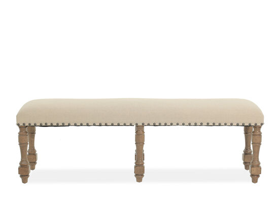 """Winners Only Almond Wheat 60"""" Bench"""