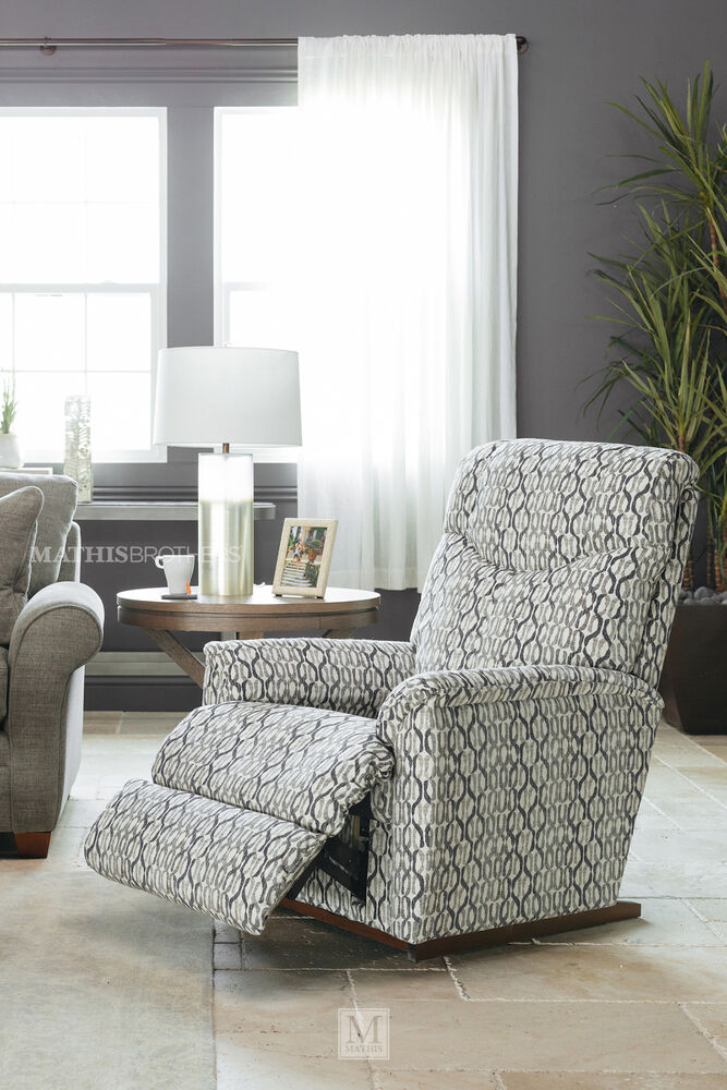 Chain-Patterned Casual 32.5\'\' Rocker Recliner in Gray | Mathis ...