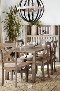 High Harvest Furniture Greystone Brown Seven-Piece Dining Set